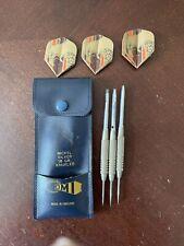Vintage  Accudart Steel Tip Dart Set With Leather Case