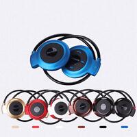 Bluetooth Over-Ear Neckband Wireless Stereo Headphones Mic Handsfree Earphone m1