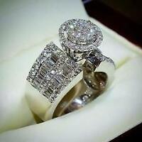 Certified 2.25 Ct Round Cut Diamond Engagement Ring 14k White Gold