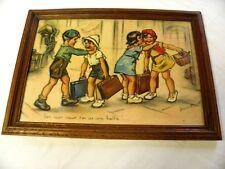 """GERMAINE BOURET LITHO ENCADREE + VERRE 39 x 26 Cm """"Ben mon vieux, tu en as une.."""