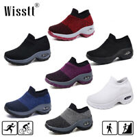 Womens Cushioned Sneakers Mesh Walking Jogging Running Gym Sport Shoes Size AU