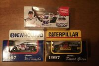 RON BARFIELD / DAVID GREEN / HANK PARKER JR. 3 CARS UNOPENED 1/64 SCALE (76-9)