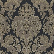 1 ROLL OF ZOFFANY PERSIA LITTLE VENICE WALLPAPER PEW09002 COLOUR CHARCOAL