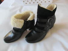 Earth Mistral Women's Leather Ankle Black Boots size 7.5 $139