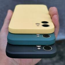 Liquid Funda de silicona para iPhone 13 12 11 Pro Max 8 7 X XS XR SE 2020 Cubierta Suave