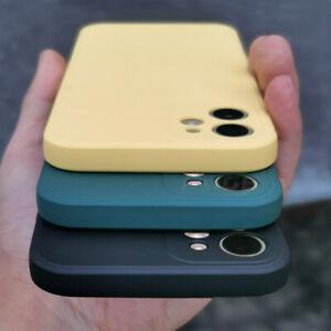 Liquid Silicone Case For iPhone 12 mini 11 Pro Max 8 7 XS XR SE 2020 Soft Cover