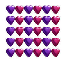 100 CADBURY CHOCOLATE PURPLE AND HOT PINK HEARTS-WEDDING GIFTS BIRTHDAY PARTIES