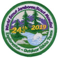 24th World Jamboree 2019 Outdoor Ethics Team IST Staff Patch Badge USA WSJ BSA