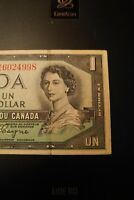 1954 Devil's Face $1 Dollar Bank of Canada Banknote MA6024998