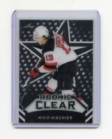 NICO HISCHIER New Jersey Devils LEAF CLEAR ACETATE 2018 Rookie Card (RC) RARE