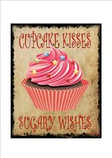 Cupcake Sign Vintage Bakery Cafe Sign Bakers Signs  Bake off Sign Cupcake Plaque