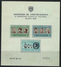Colombia SC642a Souv.Sht.ChristoperColombus-SanMartin-Balboa MNH 1955