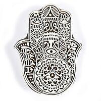 Decorativo Blocco Timbri Indiano IN Legno Marrone Tessuto Stampa