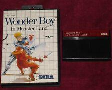 SEGA MASTER SYSTEM - WONDER BOY IN MONSTER LAND! BOXED GAME EURO ZELDALIKE RPG