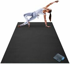 Premium Large Yoga Mat 7 x 5' x 8mm Extra Thick Wide Long Exercise Workout Floor