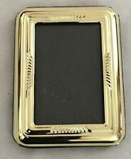 """Goldtone 3X4"""" Picture Frame Holds 2X3"""" Photo"""