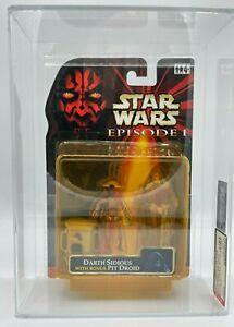 1999 Hasbro Star Wars TPM Holographic Sidious w Bonus RED Droid HIGHEST AFA-U85Y