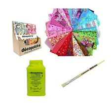 DECOPATCH PAPER KIT: CHOOSE 20 FULL PAPERS, 300G GLUE, NO.10 BRUSH