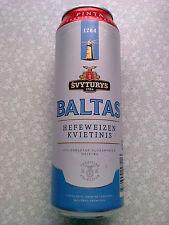 "Russia. Beer can empty 1 pinta ""Svyturys"". Baltas. 5,0% alcohol."
