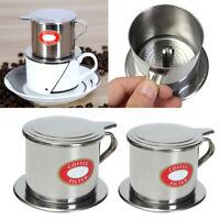 2Pcs Coffee Maker Pot Stainless Steel Cup Filter Maker Drip Brewer Home