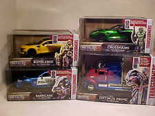 4 pack TRANSFORMERS Last Knight Crosshairs Bumble Optimus Barricade Jada 8 inch