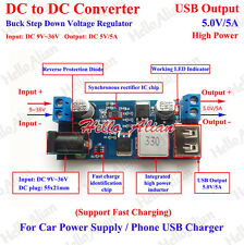 DC to DC Converter Buck Step Down Voltage Regulator USB Charger Car Power Supply