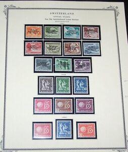 SWITZERLAND #3O83-109 Mint - 1950-88 Travel Bureau ($84)