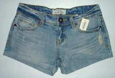Womens AEROPOSTALE Light Wash Denim Jean Shorts size 1/2 NWT #0174