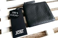 JOST of Germany Soft Black Leather Zipped Wallet Cards & Notes IN BOX New Tags