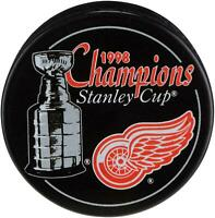 Detroit Red Wings Unsigned 1998 Stanley Cup Champs Logo Hockey Puck - Fanatics