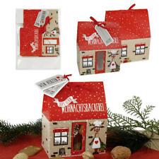 12 x Geschenkbox Kekshaus für Plätzchen Gebäckschachtel Verpackung Lebkuchen