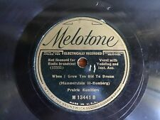PRAIRIE RAMBLERS-WHEN I GROW TOO OLD TO DREAM -MELOTONE 13441 HILLBILLY 78