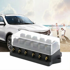 6 Way Circuit Automotive Middle-sized Blade Standard Fuse Box Block Q9