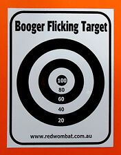 Booger Flicking Target sticker  great for the back of the toilet door.