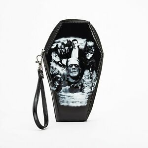 Rock Rebel Universal Monsters Glitter Coffin Clutch Wallet UM-WAL80-GLIT-COLLAGE