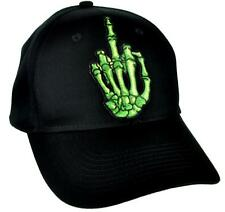 Skeleton Hand Middle Finger Hat Baseball Cap Skater Thrasher Clothing Punk Rock