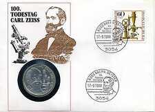 Numisbrief Deutschland 1988 100 Todestag Carl Zeiss mit 10 DM 1988 Silber N_139
