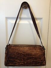 Women Handbag shoulder bags brown mix genuine leather croco  The trend Original