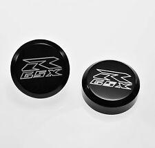 GSXR GSX-R 600 750 1000 BLACK FLAT GIXXER LOGO FORK TUBE CAPS COVERS FK-303-GSXR