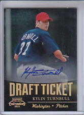 KYLIN TURNBULL 2011 PLAYOFF CONTENDERS DRAFT TICKET AUTO