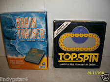 TOP SPIN PUZZLE, BINARY ARTS, & BRAIN TRAINER, HANDHELD GAME, SEGA TOYS, 2 FOR 1