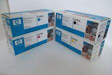 LOT-4 HP Black Cyan Magenta Yellow Toner Cartridges 4500 4550 C4191A C4193A NEW