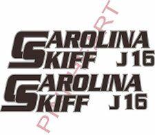 carolina j16 2 colors skiff Boat Decals Graphics Sticker Decal Stickers  USA