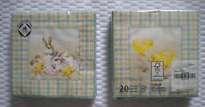 Mesafina Brand Paper Cocktail Napkins 20 count Easter Bunny Chick Theme 3 ply