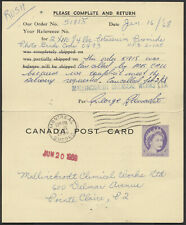 1968 Webb #DKP226a National Film Board Card With Reply, Used at Montreal