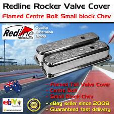 New Redline Rocker Valve Cover Flamed Tall Centre Bolt Small Block Chev