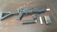 Airsoft Double Eagle M82 AEG BLACK w/ Charger, Battery, and Suppressor