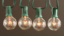 G40 Patio/Bistro Globe Light String, 25 feet, Clear Bulbs, Outdoor Use