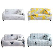 Morden 1 2 3 4 Seater Sofa Cover Slipcovers Stretch Home Decoration Leaves