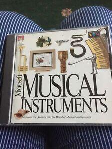 Microsoft CD Rom Musical Instruments